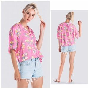 Pink Marina Floral Button Down Top by Levi's